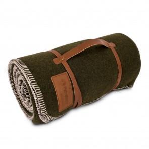 Couverture en laine Petromax 150 x 200 cm (Vert mousse / Noir)