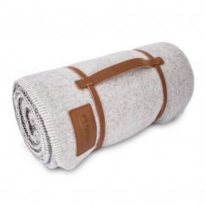 Couverture en laine Petromax 150 x 200 cm (Blanc de plomb / Gris foncé)